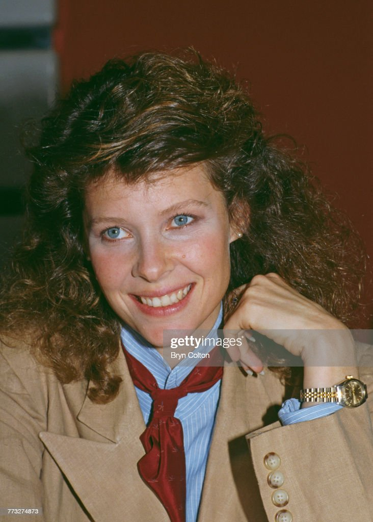 American actress star Kate Capshaw, poses whilst promoting her new film 'Indiana Jones and the Temple of Doom', ahead of the Royal European Charity Premiere in London, June 11, 1984.