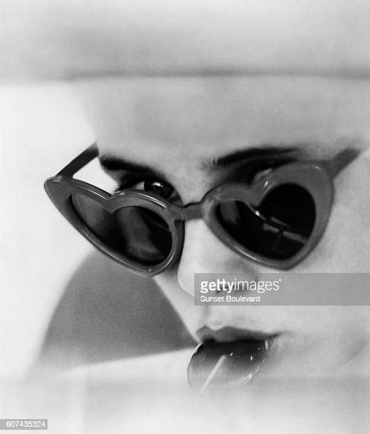 American actress Sue Lyon on the set of his movie Lolita based on the novel by Vladimir Nabokov and directed by Stanley Kubrick