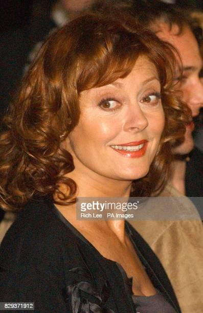 American actress Susan Sarandon arrives for the film premiere of 'Alfie' at the Ziegfield Theater in New York City USA