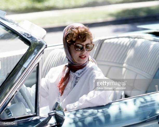 American actress Susan Sarandon as Louise Sawyer in 'Thelma And Louise' directed by Ridley Scott 1991