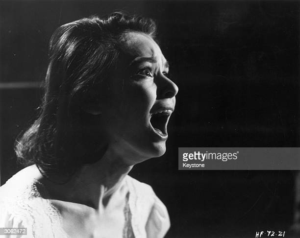 American actress Susan Strasberg the daughter of acting coach Lee Strasberg stars in the Hammer thriller 'Taste of Fear' directed by Seth Holt