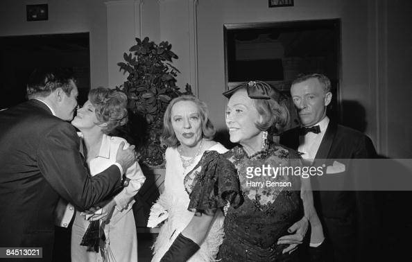 American actress Tallulah Bankhead at Truman Capote's BlackandWhite Ball in the Grand Ballroom of the Plaza Hotel New York City 28th November 1966