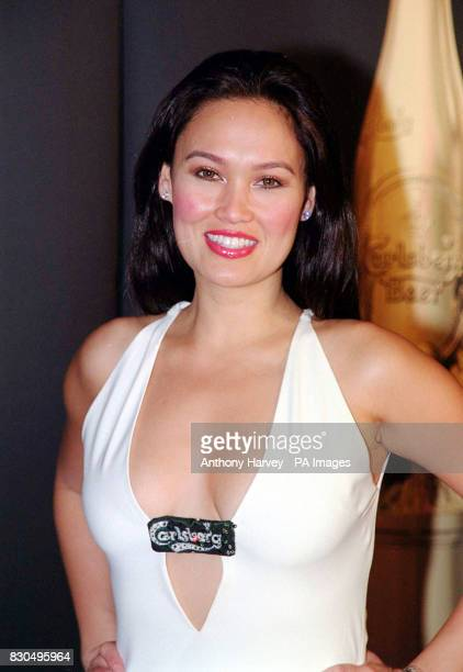 American actress Tia Carrere at a press conference after the MTV Europe Music Awards ceremony held at the Globe Arena in Stockholm Sweden