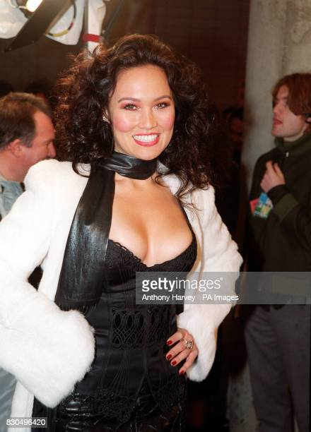 American actress Tia Carrere at the MTV Europe Music Awards ceremony held at the Globe Arena in Stockholm Sweden