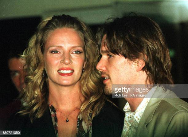 American actress Uma Thurman and her husband actor Ethan Hawke arrive for the Independent Feature Project's 11th Annual Gotham Awards at Chelsea...