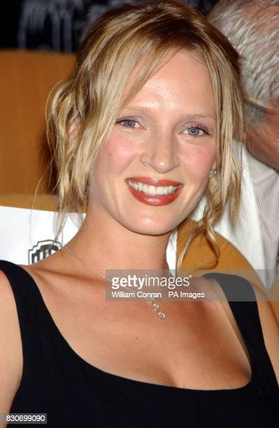 American actress Uma Thurman at the 58th Venice Film Festival in Italy