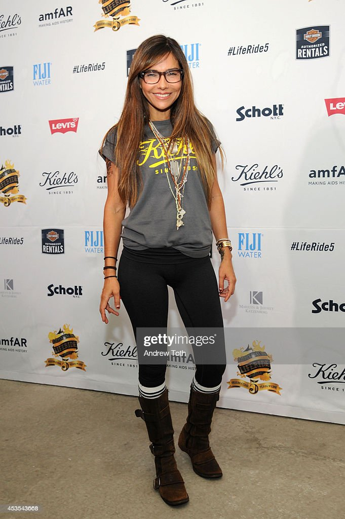 American actress <a gi-track='captionPersonalityLinkClicked' href=/galleries/search?phrase=Vanessa+Marcil&family=editorial&specificpeople=212875 ng-click='$event.stopPropagation()'>Vanessa Marcil</a> attends the 5th Annual Kiehl's LifeRide for amfAR Finale Celebration on August 12, 2014 in New York City.