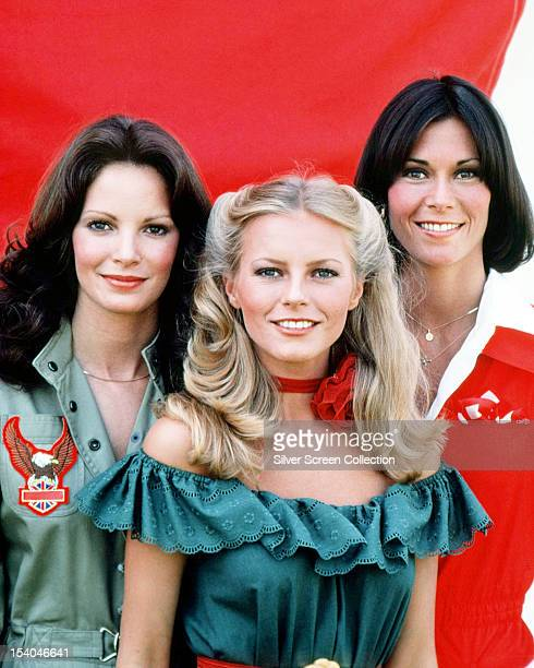 American actresses Jaclyn Smith Cheryl Ladd and Kate Jackson stars of the American TV show 'Charlie's Angels' circa 1978