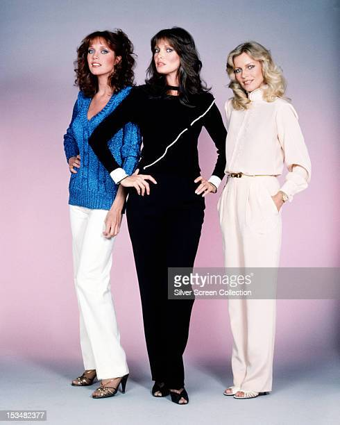 American actresses Tanya Roberts Jaclyn Smith and Cheryl Ladd stars of the American TV show 'Charlie's Angels' circa 1980