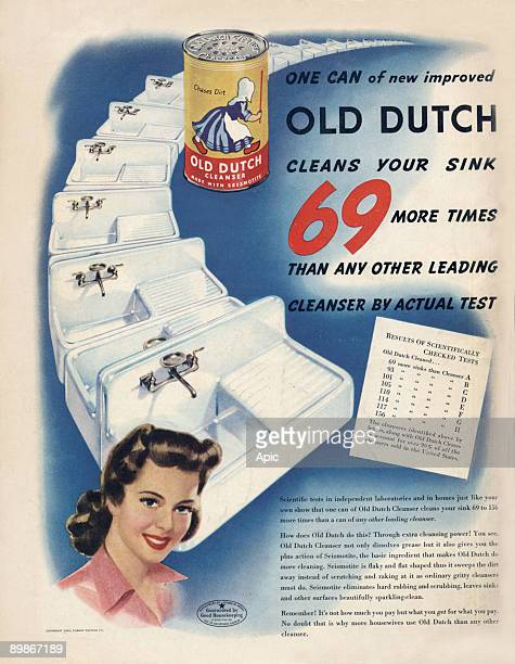 American advertisement for cleaning product Old Dutch from american magazine McCall's february 1943