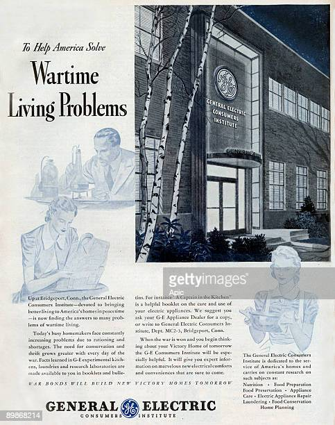 American advertisement for General Electric who help America solve wartime living problems from american magazine McCall's 1964