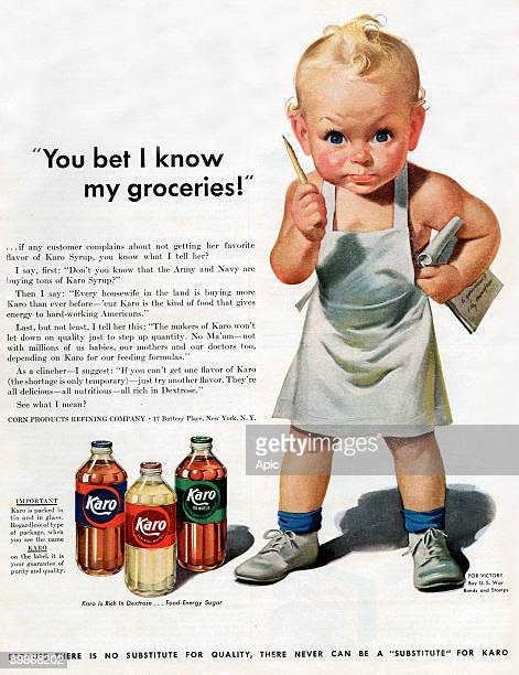 American advertisement for Karo syrup from american magazine McCall's 1943