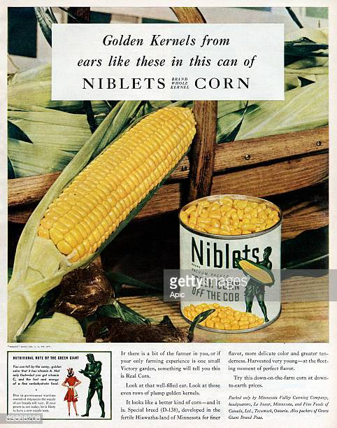 American advertisement for Niblets corn from american magazine McCall's 1943