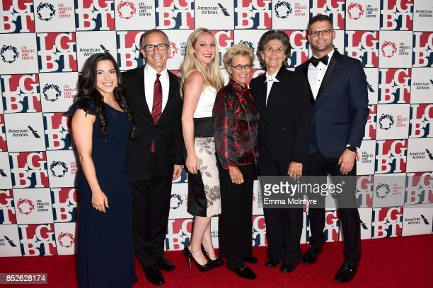 American Airlines representatives attend Los Angeles LGBT Center's 48th Anniversary Gala Vanguard Awards at The Beverly Hilton Hotel on September 23...