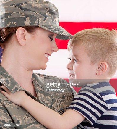 American Airwoman & Son