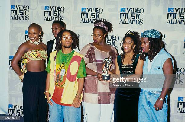 American alternative hip hop group Arrested Development at the MTV Video Music Awards at the Gibson Amphitheatre in Los Angeles 2nd September 1993...