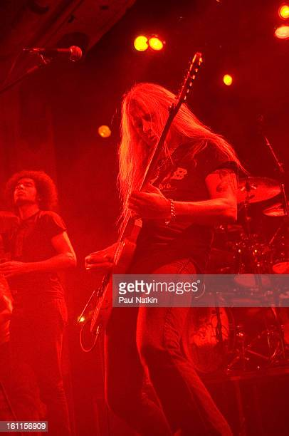 American alternative rock group Alice In Chains perform at Metro Chicago Illinois May 21 2006 Pictured is guitarist Jerry Cantrell and singer William...