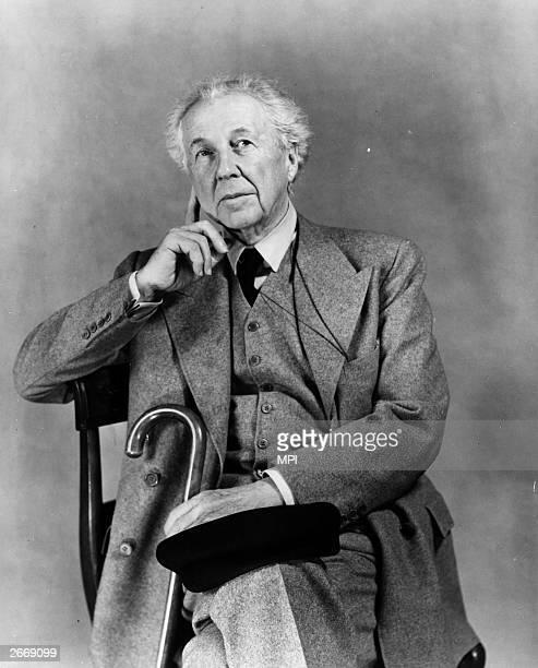 American architect Frank Lloyd Wright