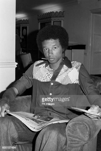 American Arthur Ashe relaxed in the lounge of his hotel before going to Wimbledon to challenge fellow American Jimmy Connors in the final of the...
