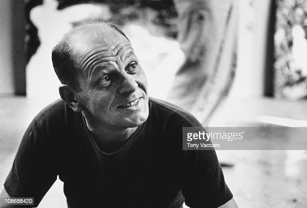 American artist Jackson Pollock at his Springs studio in East Hampton New York State 23rd August 1953