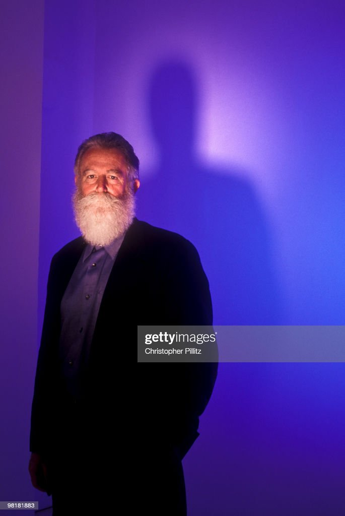 American artist James Turrell in London June 2000 His works make use of light and space and include the natural installation 'Roden Crater' outside...