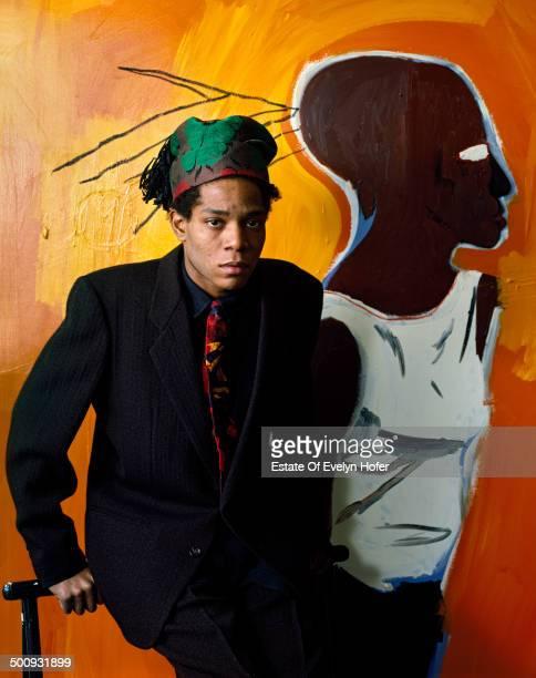 American artist JeanMichel Basquiat New York 1985