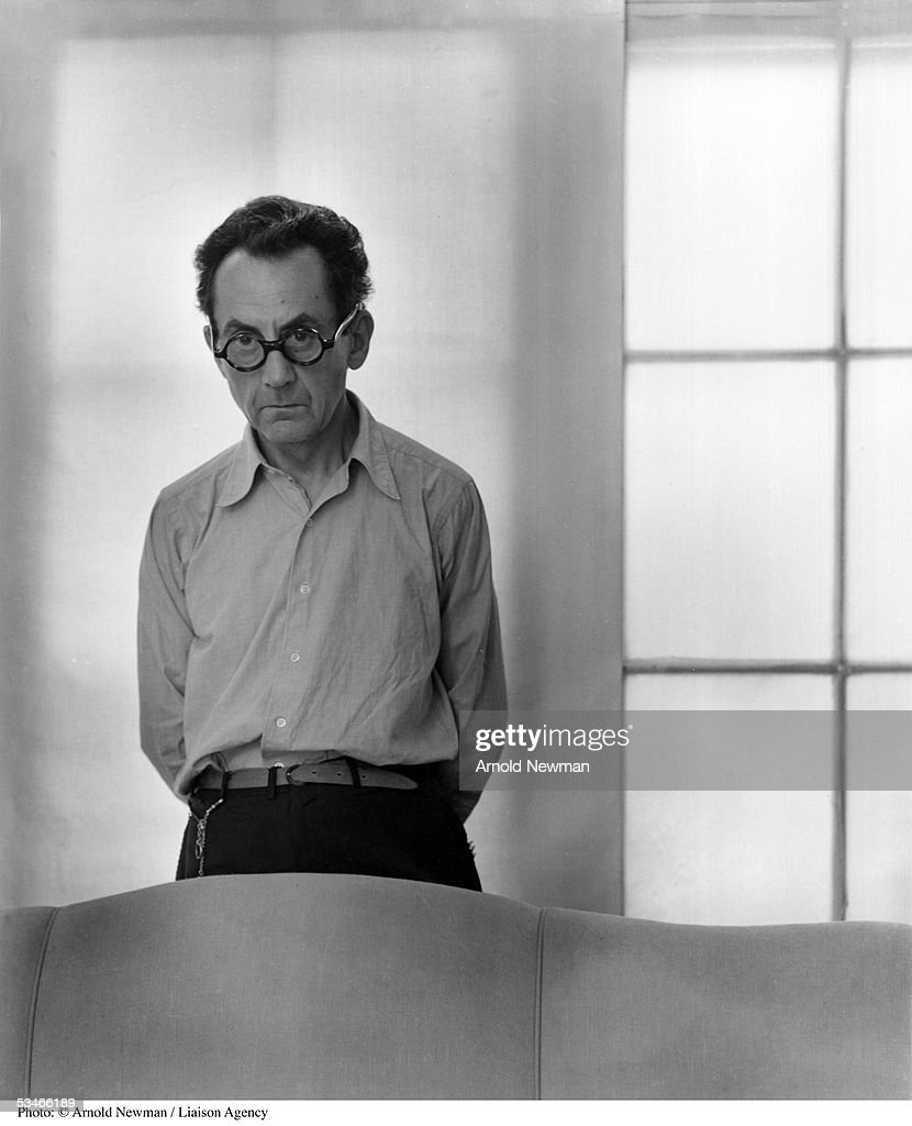 American artist <a gi-track='captionPersonalityLinkClicked' href=/galleries/search?phrase=Man+Ray&family=editorial&specificpeople=13641952 ng-click='$event.stopPropagation()'>Man Ray</a> poses for portrait at his home June 13, 1948 in Los Angeles, California.