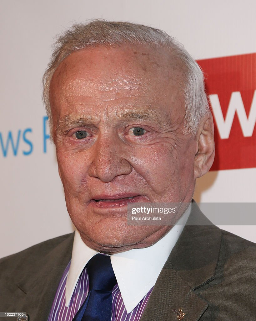 American Astronaut <a gi-track='captionPersonalityLinkClicked' href=/galleries/search?phrase=Buzz+Aldrin&family=editorial&specificpeople=90480 ng-click='$event.stopPropagation()'>Buzz Aldrin</a> attends TheWrap 4th annual Pre-Oscar Party at the Four Seasons Hotel Los Angeles at Beverly Hills on February 20, 2013 in Beverly Hills, California.