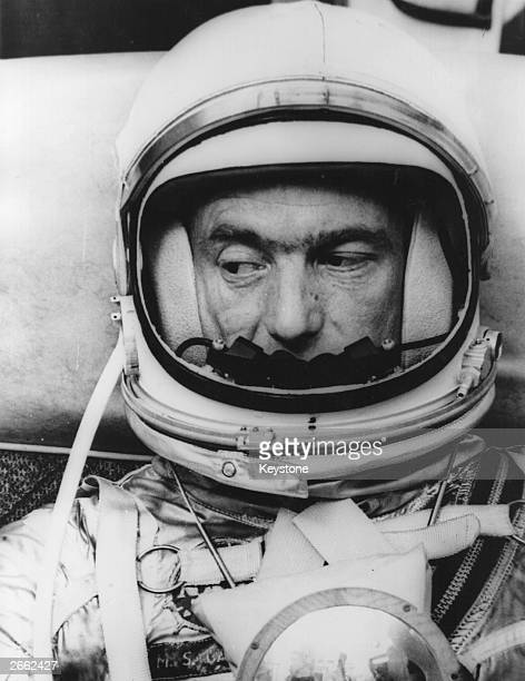 American astronaut Scott Carpenter in his space suit He is the prime pilot for the USA's second manned space orbit launched in May 1962