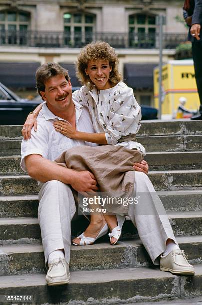 American athlete Mary Slaney formerly Mary Decker at a press conference with her husband British discus thrower Richard Slaney 17th July 1985