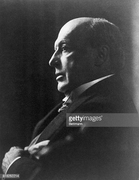 American author and critic Henry James is shown in a head and shoulders profile portrait Undated