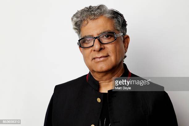 American author and public speaker Deepak Chopra poses for a portraits at the Tribeca TV festival at Cinepolis Chelsea on September 22 2017