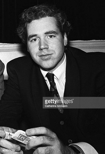 American author Bret Easton Ellis poses for a photo at a party for the premiere of John Waters' film 'CryBaby' on April 3 1990 in New York City New...