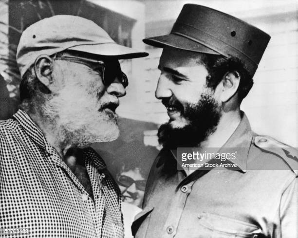 American author Ernest Hemingway in conversation with Cuban Premier Fidel Castro Cuba late 1959 In 1960 Hemingway was forced out of his home in Cuba...