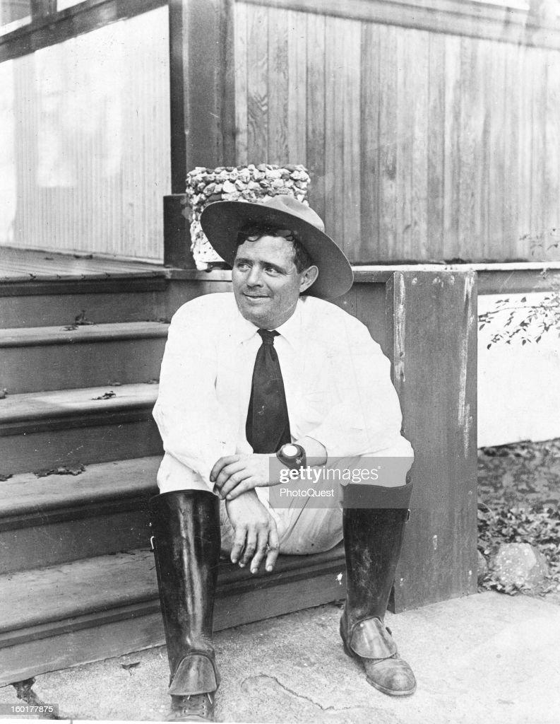 American author Jack London 1916
