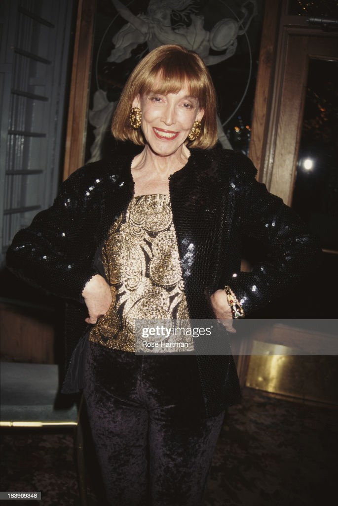 American author, publisher, and businesswoman <a gi-track='captionPersonalityLinkClicked' href=/galleries/search?phrase=Helen+Gurley+Brown&family=editorial&specificpeople=215179 ng-click='$event.stopPropagation()'>Helen Gurley Brown</a> attends the '49th Annual Writers Guild Awards Gala', 1997.