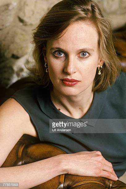 American author Siri Hustvedt poses while in ParisFrance to promote her book on the 20th of April 2004