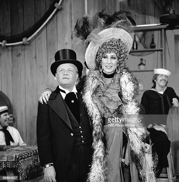 American author Truman Capote and performer Cher perform in a skit during an episode of 'The Sonny and Cher Comedy Hour' August 10 1973 Capote is...
