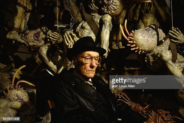 American author William Burroughs appears on the set of Canadian director David Cronenberg's movie The Naked Lunch loosely based on William Burroughs...
