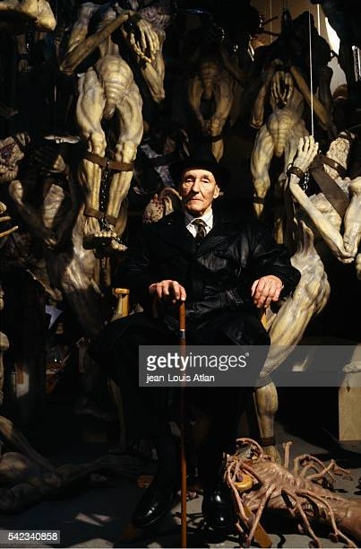 American author William Burroughs assists on the set of Canadian director David Cronenberg's movie The Naked Lunch loosely based on William Burroughs...