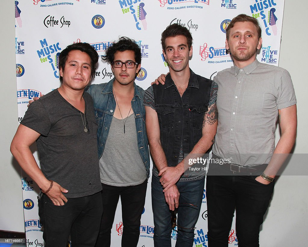 American Authors attends the Music for Music showcase benefiting VH1 Save the Music at The Union Square Ballroom on April 28, 2013 in New York City.