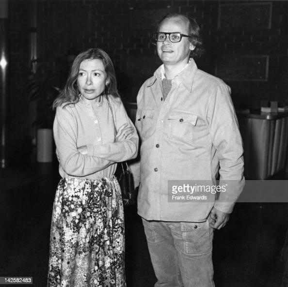 American authors Joan Didion and her husband John Gregory Dunne attend a party for the movie 'Play It As It Lays' at the Directors' Guild of America...