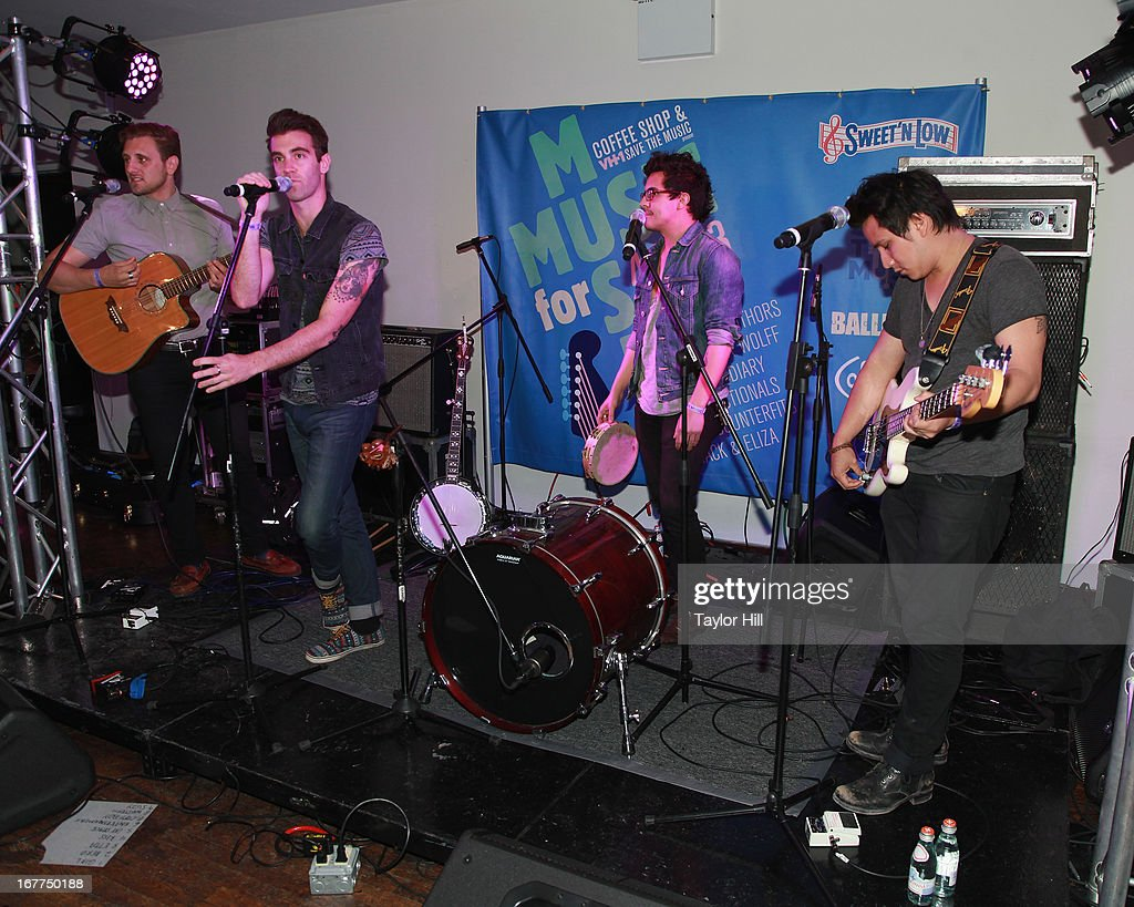 American Authors performs during the Music for Music showcase benefiting VH1 Save the Music at The Union Square Ballroom on April 28, 2013 in New York City.