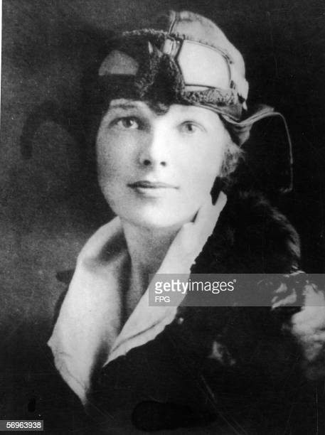 American aviator Amelia Earhart poses for a portrait some time shortly before her nonstop flight from Newfoundland to Wales with pilot Wilmer Stultz...