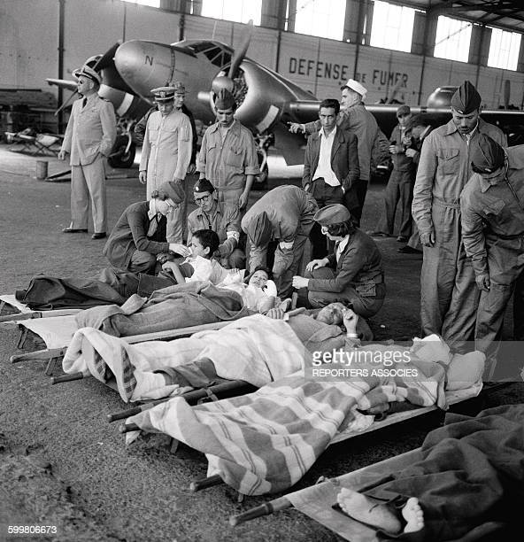 American Aviators Rescue Moroccan Victims Of The Agadir Earthquake Morocco In March 1960