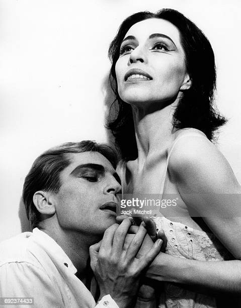 American Ballet Theatre dancers Maria Tallchief and Erik Bruhn in 'Miss Julie' 1961
