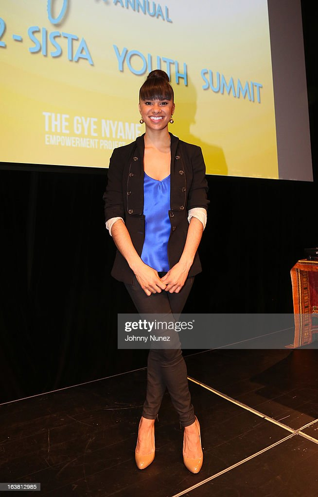 American Ballet Theatre Soloist Misty Copeland is the keynote speaker at GNEP's 6th Annual Sista-2-Sista Youth Summit at St. Francis College on March 16, 2013, in Brooklyn, New York.