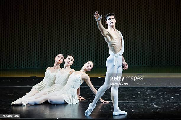 LOS ANGELES CALIF FRIDAY NOVEMBER 27 2015 American Ballet Theatre's Roberto Bolle performs alongside Hee Seo Devon Teuscher and Stella Abrera with...