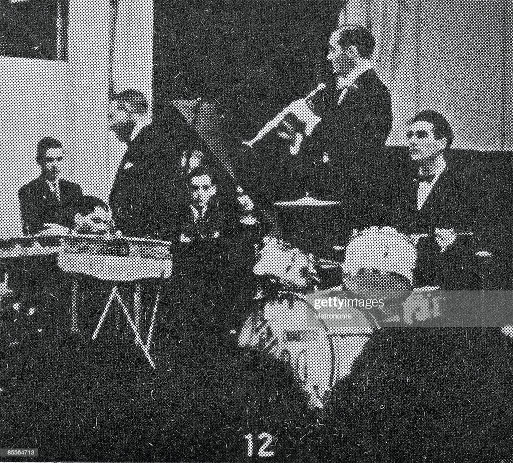 American band leader Benny Goodman and his band perform in their debut perfomance at Carnegie Hall New York New York January 16 1938 Among the band...
