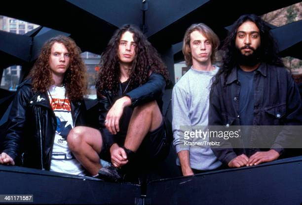 American band Soundgarden in a posed portrait 1989